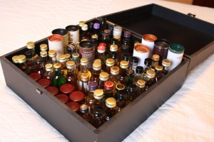 My box of whisky miniatures