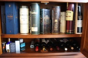 My wardrobe of whisky