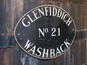 Glenfiddich Washback label