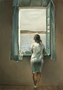 Woman figure at window - Salvador Dali