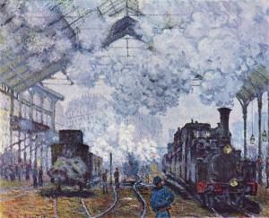 Claude Monet Gare Saint Lazare
