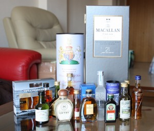 English Whisky St George Royal Wedding and Macallan 21 years old Fine Oak