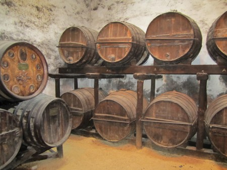Cherry tree casks of more than 300 years old at Gonzalez Byass