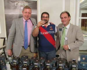 Emilio Juarez, Miguel Angel Blanch and Fran Peregrina at Embrujo de Granada stand in Whiskylive Madrid