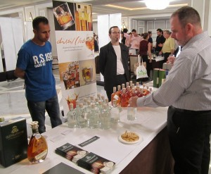 Richard having a look to Glenglassaugh new make spirit
