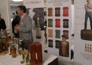 WkyRegal stand with Compass Box and Edradour