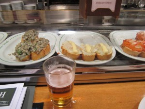 Cold Beer with great pintxos after a full day of work at WhiskyLive Madrid