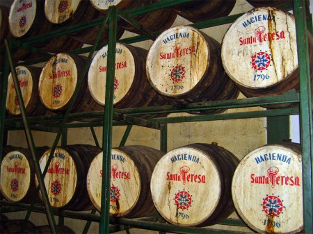 Soleras of Santa Teresa rum from Venezuela