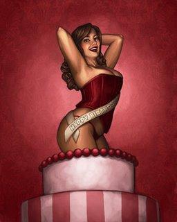 Stripper cake