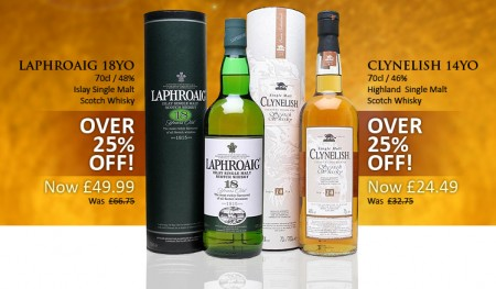 25 off from Laphroaig anc Clynelish