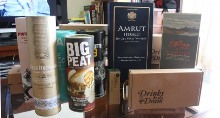 October whisky order: Glendronach, big peat, port charlotte, amrut, arran